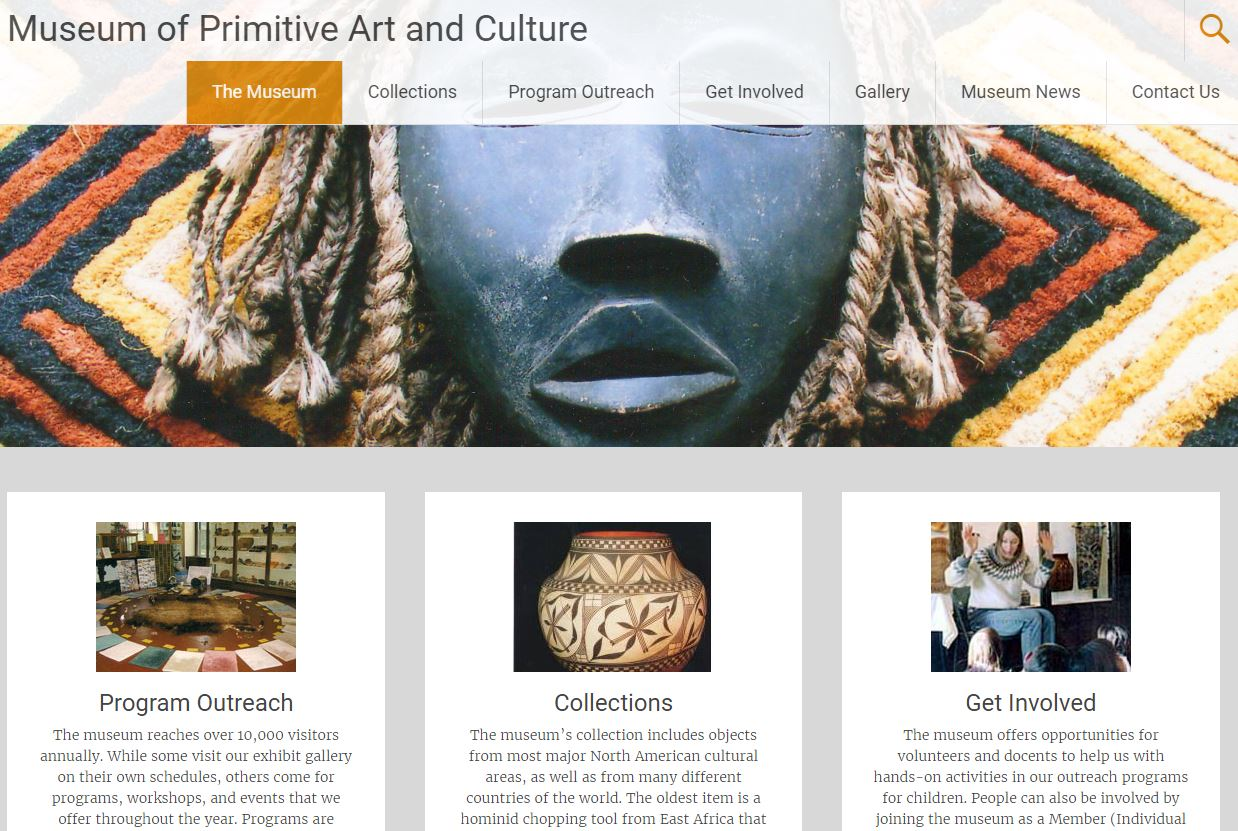 Museum of Primitive Art and Culture Website